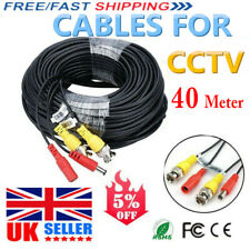 BNC 40 Meter CCTV Security DVR Extension Cable Video Camera Data DC Power Lead