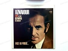 Charles Aznavour - Live - At The Olympia In Concert US LP 1969 /4