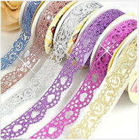 5PC Lace Self Adhesive Scrapbooking Masking Tape Sticky Washi Paper Sticker DIY