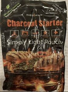 InstaFire Charcoal Briquette Fire Starter Pouches for Grills, Smokers .