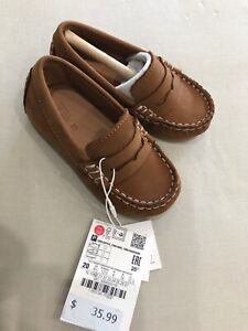 6 M US Toddler//CN Size 21//13cm, Black Voberry@ Boys Girls Soft Synthetic Leather Loafers Slip On Boat Dress Shoes//Sneakers//Flats