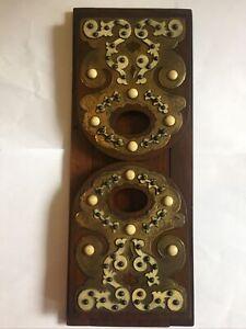 Victorian Wood Brass Etc Decorative Extending Folding Book Slide