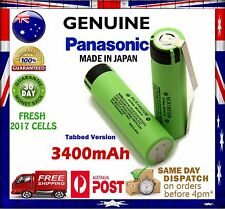 1x Panasonic NCR 18650 B 3400mAh TABBED Li-Ion Rechargeable Battery