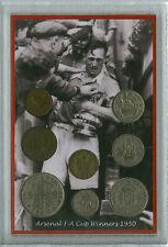 Arsenal The Gunners Vintage Joe Mercer F.A Cup Final Winners Coin Gift Set 1950