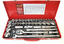 "43pc 1/2"" Drive socket wrench ratchet set, short,12point, breaker bar,Metric/SAE"