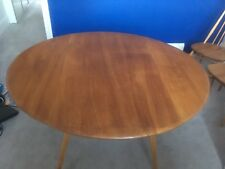 Beautiful Ercol Drop Leaf Dining Table And Three Ercol Chairs