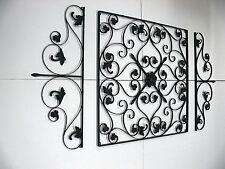 XXL French Wall Art Decor Set of 3 Mural Black Finish