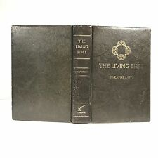 The Living Bible 1972 Green Padded Hardcover Paraphrased Tyndale House