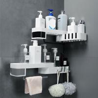 Plastic Suction Cup Bathroom Kitchen Storage Rack Organizer Shower Shelf - UK