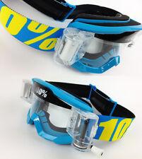 100% Por Cien Estratos MX Gafas de Motocross Azul GOGGLE-SHOP AUTOLIMPIABLE