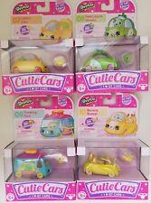 4 Shopkins Cutie Cars Lemon Limo Peely Apple Wheels Traveling Taco Banana Bumper