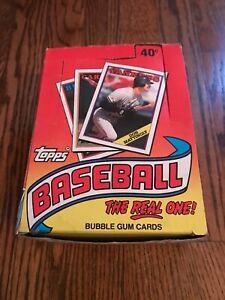 1988 Topps Baseball Wax Box - 36 Unopened Packs - Tom Glavine Rookie