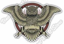 """Owl Illuminati Freemasonry Masons Masonic Car Bumper Vinyl Sticker Decal 5""""X4"""""""