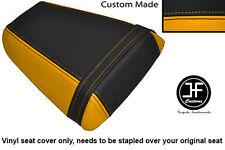 Amarillo y Negro de vinilo personalizado se ajusta a Honda CBR 600 F 01-03 Trasero Cubierta de asiento solamente