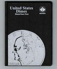 Uni-Safe United States US Dimes 10 Cents Coin Album Folder Blank - No Date USA