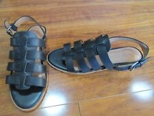 NEW Coach Skyler Leather Strappy Sandals WOMENS 7 B Black Leather $145.00