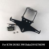 Fender Eliminator License Plate Holder Black With LED Light For KTM Duke 390 250