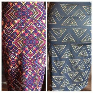 LOT of 2  LuLaRoe XS X SMALL NWT Cassie Pencil Skirt Christmas Gifts