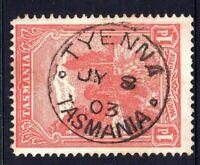 Tasmania nice 1903 TYENNA postmark (type 1) on 1d pictorial rated U/C (3)