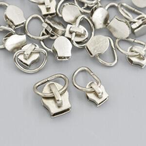 25pcs/lot Metal 3# 5# Non Lock Zipper Sliders puller Zips D Shape Replace Tools