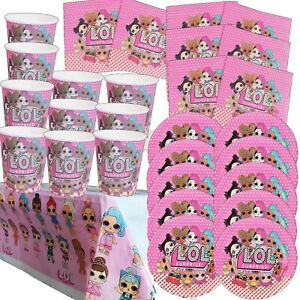 LOL Diva Mermaid Surprise Table Wear Table Cover Plates Cups Napkins Pack