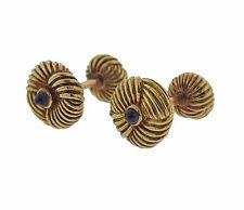 Tiffany & Co Schlumberger 18k Gold Sapphire Cufflinks