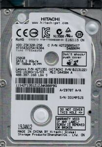 HTS543225A7A384 P/N: 0J13122 MLC: DA4584 Hitachi 250GB