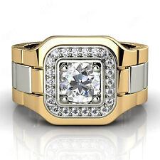 1.25 ct Round Diamond Men's Engagement Wedding Band Ring Solid 10k Yellow Gold