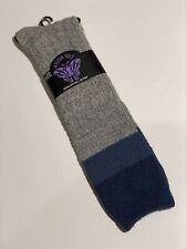 Anna Sui Women's Blue Knee High Winter Boot Fancy Design Socks 9-11 Rare VHTF