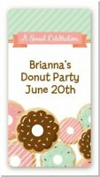 Donut Custom Birthday Party Rectangle Stickers - 2oz Sanitizer
