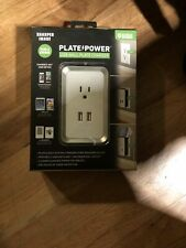 Sharper Image Plate Power USB Wall Plate Charger BRAND NEW SEALED BOX Surge