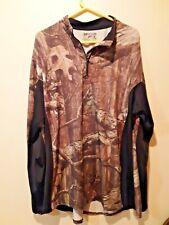 Mens Size 2XL/2XG  Mossy Oak Break Up Infinity CAMOUFLAGE zip up Shirt Camo