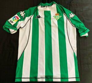 Maillot Real Betis Seville 2004/2005 vintage Kappa jersey taille L Sevilla shirt
