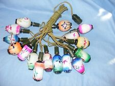 Christmas Tree Lights Figural Light Bulb Vintage Glass Old Decoration Working 16