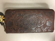 [LFWA0470] Loungefly Skull Wallet Zip Brown