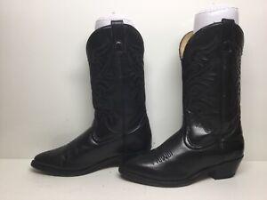 WOMENS TEXAS BRAND COWBOY BLACK  BOOTS SIZE 7.5