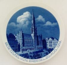 (MT123) Meissen Patriotischer Teller 'Besetzung von Brüssel 20.Aug. 1914', WK I.