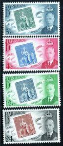 Barbados 1952 KGVI Stamp Centenary MH aXF SG#285-288 Complete