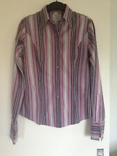 Stunning Ladies T.M. Lewin Striped Multi-coloured Cotton Shirt- Size 12 FREE P&P