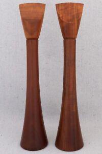 """Mid Century Modern Dansk Rare Wood Mutenye Pepper Mill Grinder Salt Shaker 14"""""""