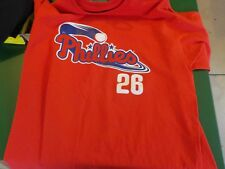 Philadelphia Phillies # 26 Chase Utley Sport T Shirt - Size XL  (RC)