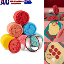 6PCS/set Cookie Stamp Biscuit DIY Mold Christmas 3D Cookie Cake Plunger Cutter