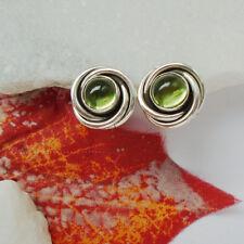 Peridot rund grün green modern elegant Ohrringe Ohrstecker 925 Sterling Silber