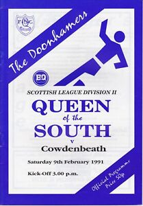 Queen of the South v Cowdenbeath 9 Feb 1991