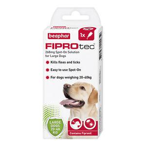 Beapher Fiprotec Large Dog Flea Treatment 20-40kg Spot On Kills Fleas And Ticks.
