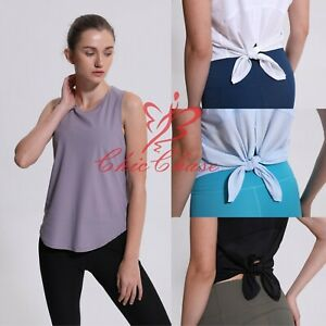 FITINCLINE Women's Sports Vest Top Tie Tank Top Casual Gym Fitness Yoga Training