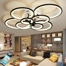 Modern LED Ring Lamp Ceiling Chandelier For Kitchen Living Room Geometry Fixture