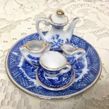 Vintage, Norcross, Blue Willow 7pc Doll House - Miniature Tea Set