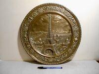 EXPOSITION UNIVERSELLE PARIS 1889 INAUGURATION TOUR EIFFEL PLAT SOUVENIR CUIVRE