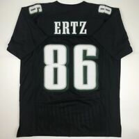New ZACH ERTZ Philadelphia Black Custom Stitched Football Jersey Size Men's XL
